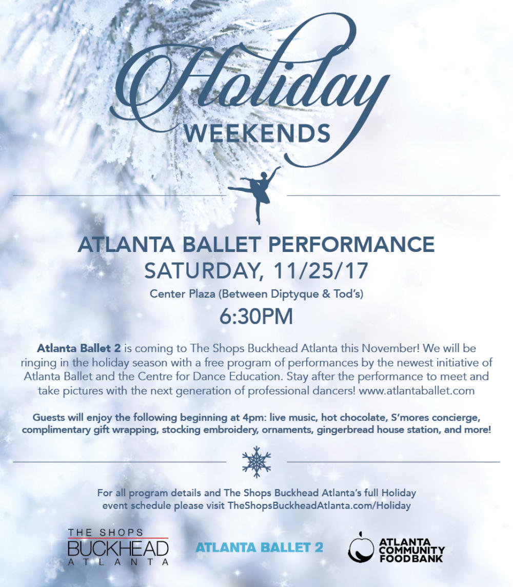 See Atlanta Ballet 2's Free Performance on Nov 25